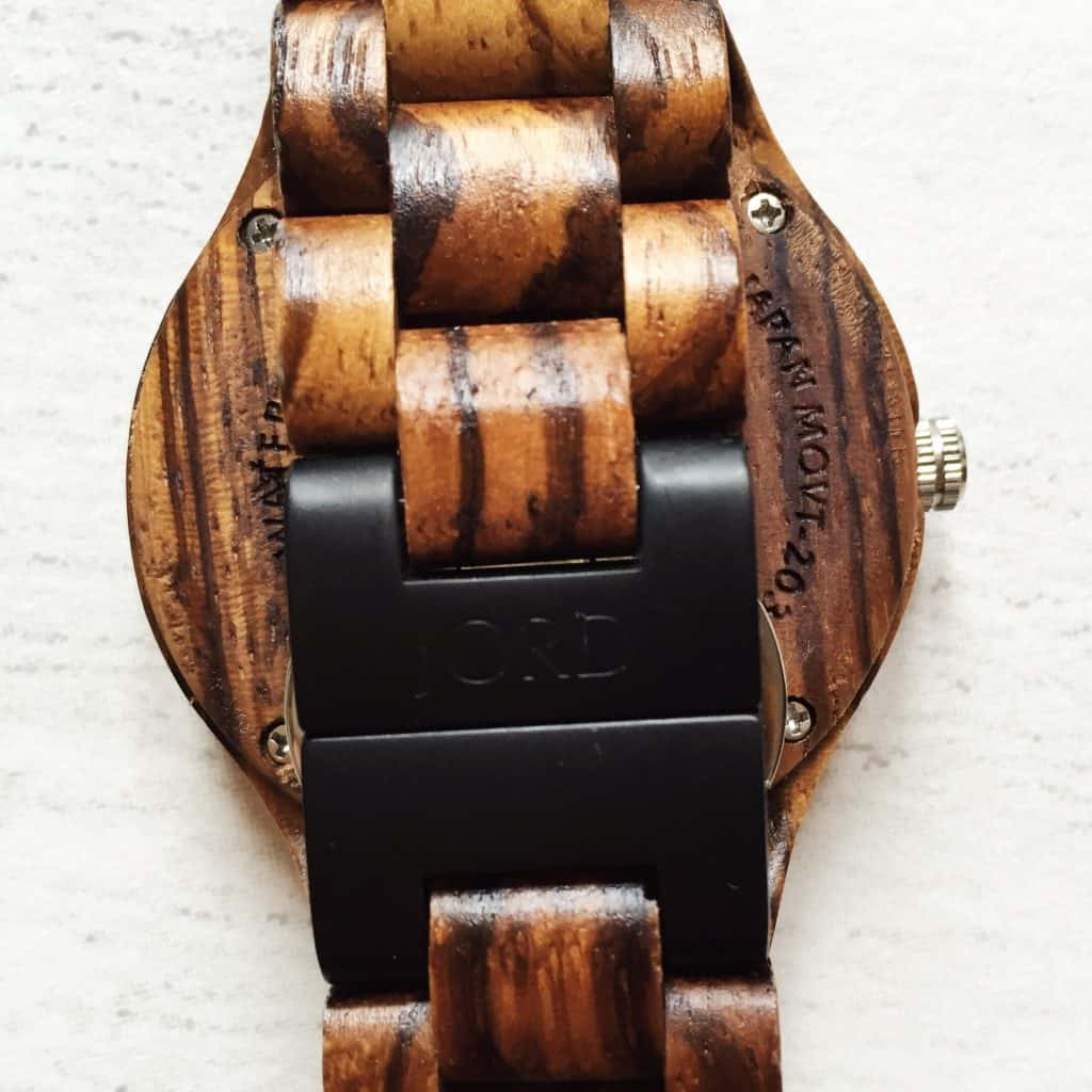 Review Wooden Wrist Watch Jord clasp
