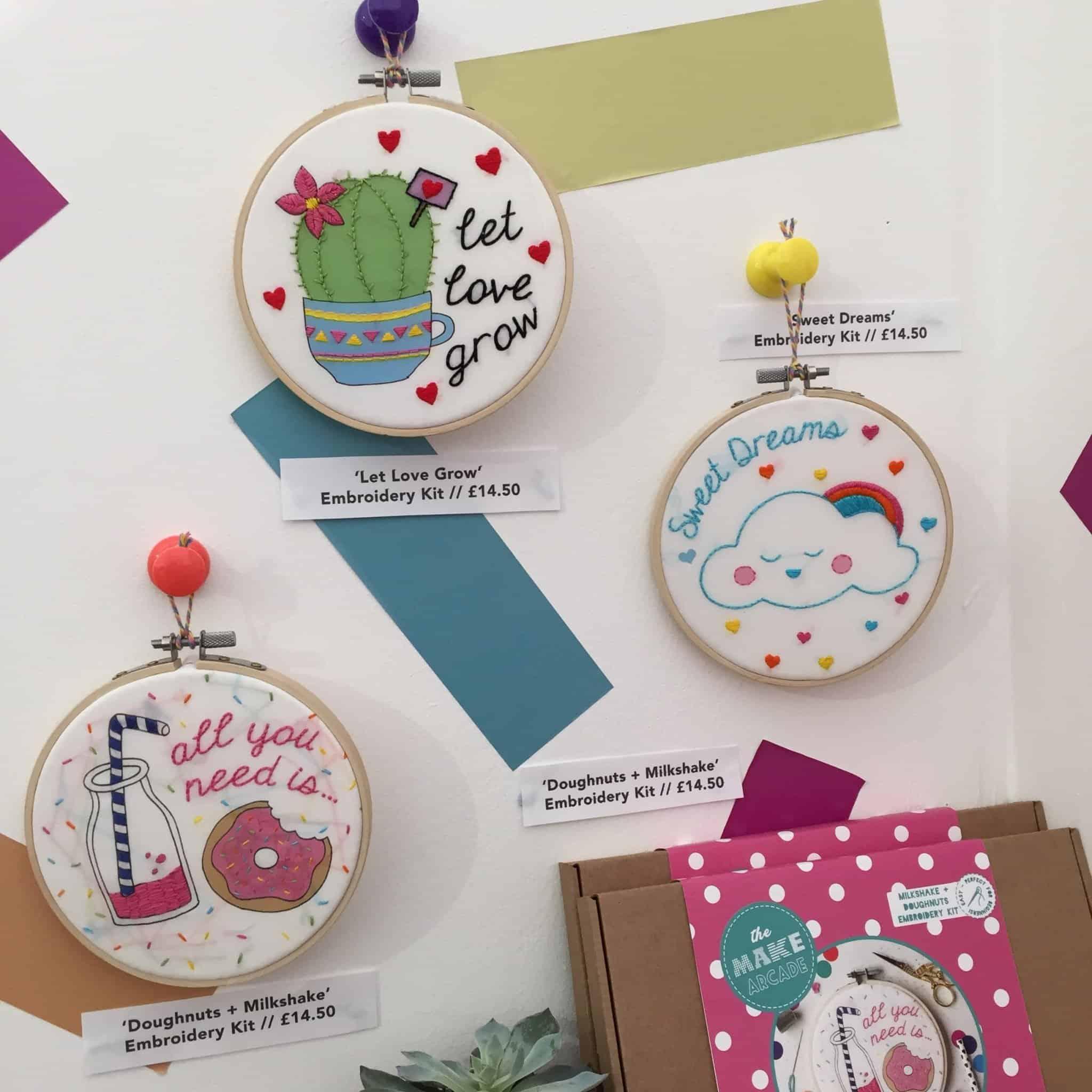 The Make Arcade Embroidery at The Handmade Fair