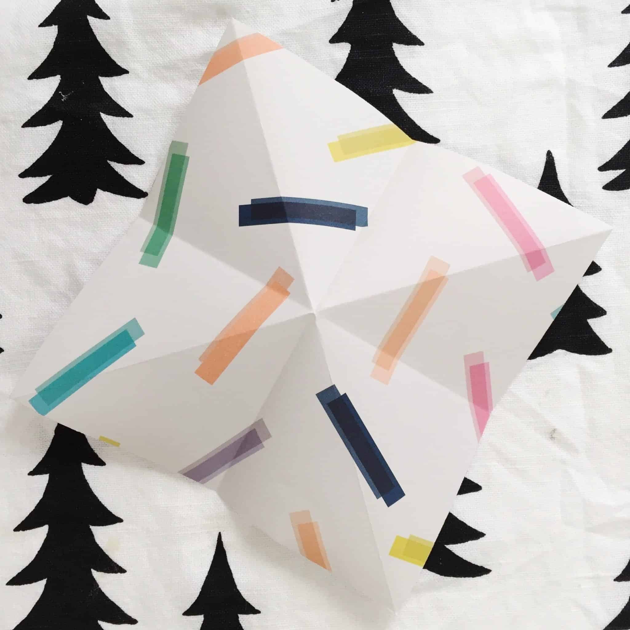 Learning origami: first folds