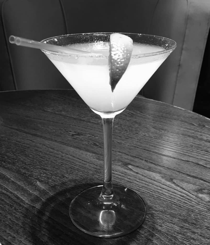 Margarita cocktail in black and white