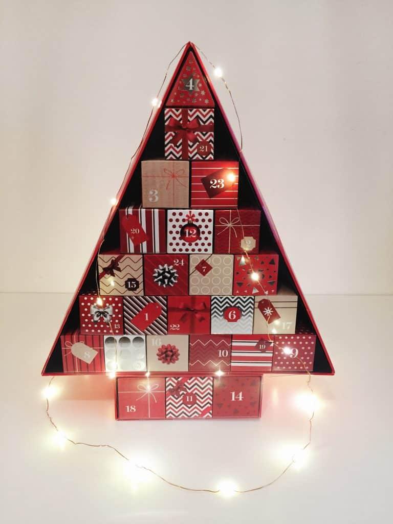 Marks & Spencer Beauty Advent Calendar with Christmas lights