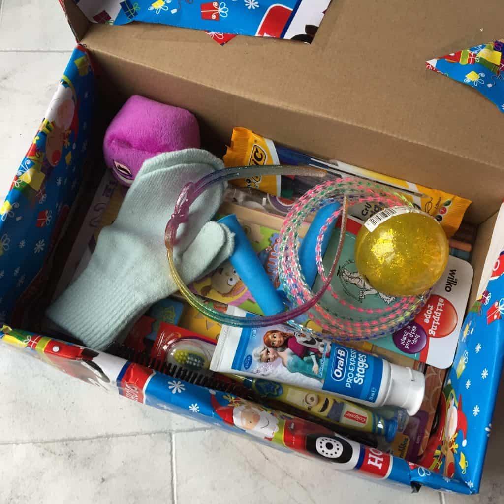 Our Christmas shoebox
