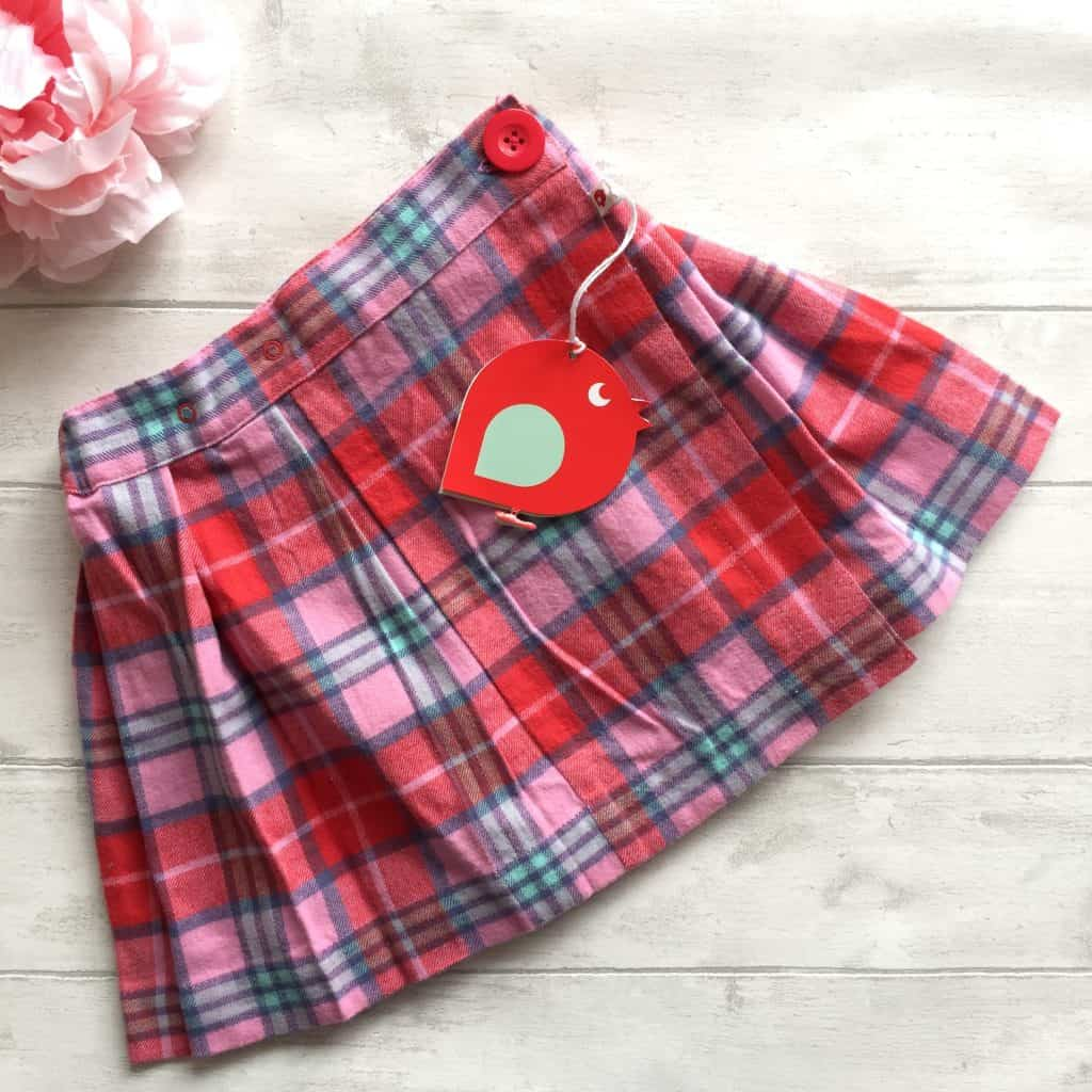 Tartan Check Wrap Around Skirt from Piccalilly organic kids clothes