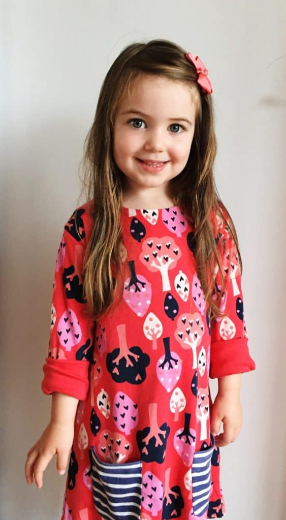 Thea loves her organic Forest Tunic