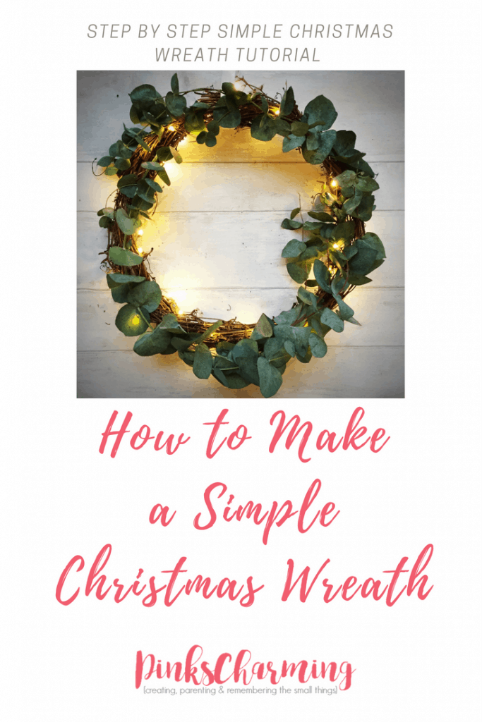 How to make a simple Christmas wreath with step by step instructions and pictures. You'll only need a few things to make something really festive.
