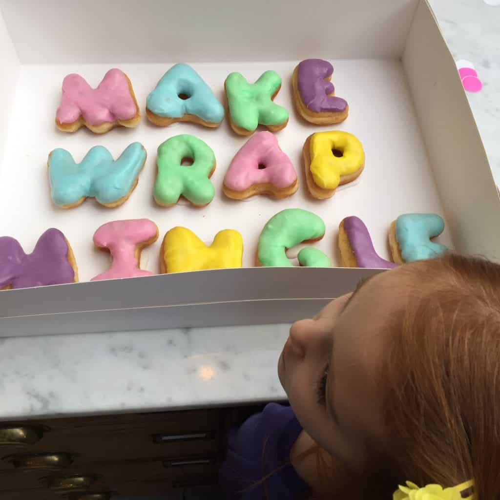 Make Wrap Mingle doughnuts