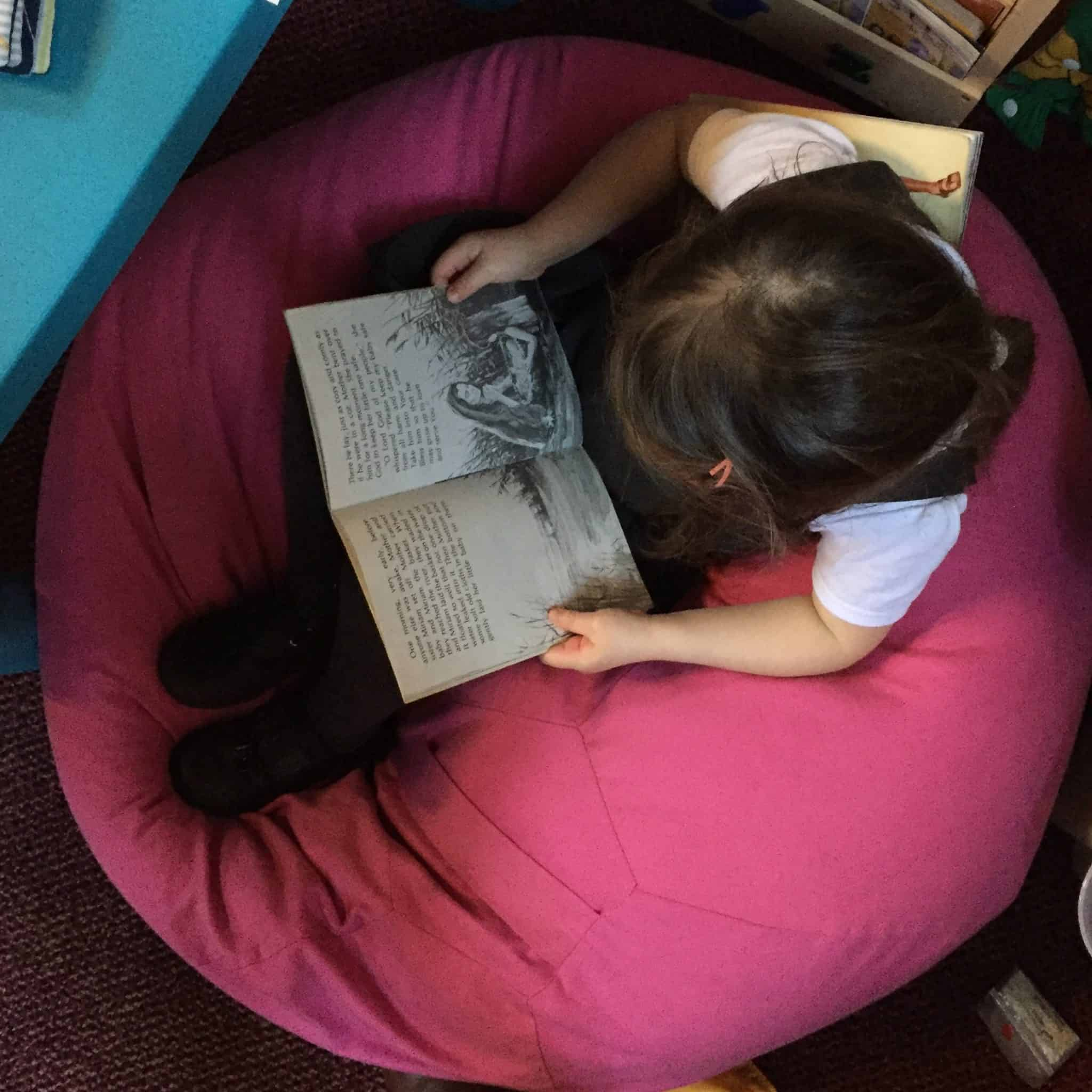 Reading at the carol service