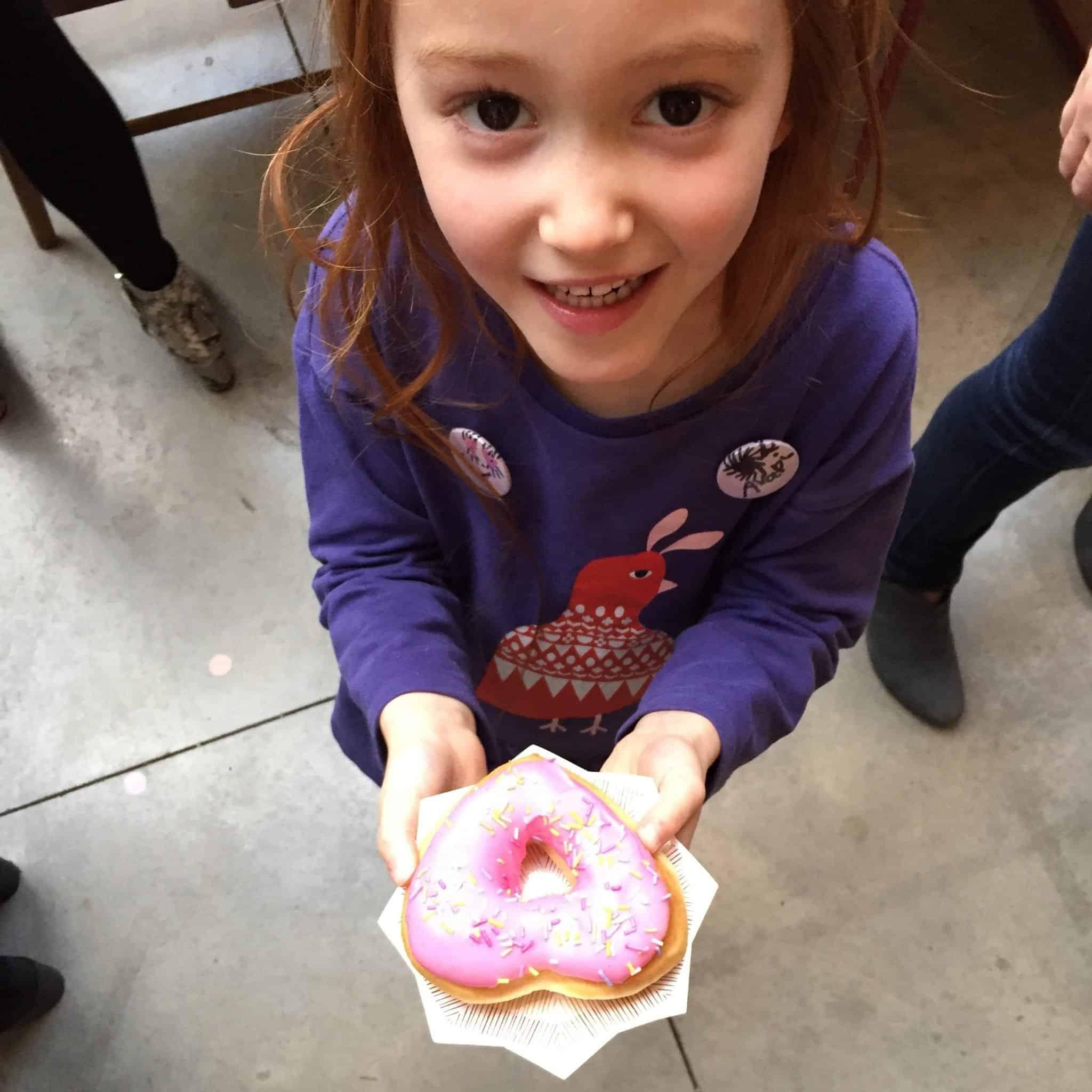 Yummy heart doughnut at Make Wrap Mingle