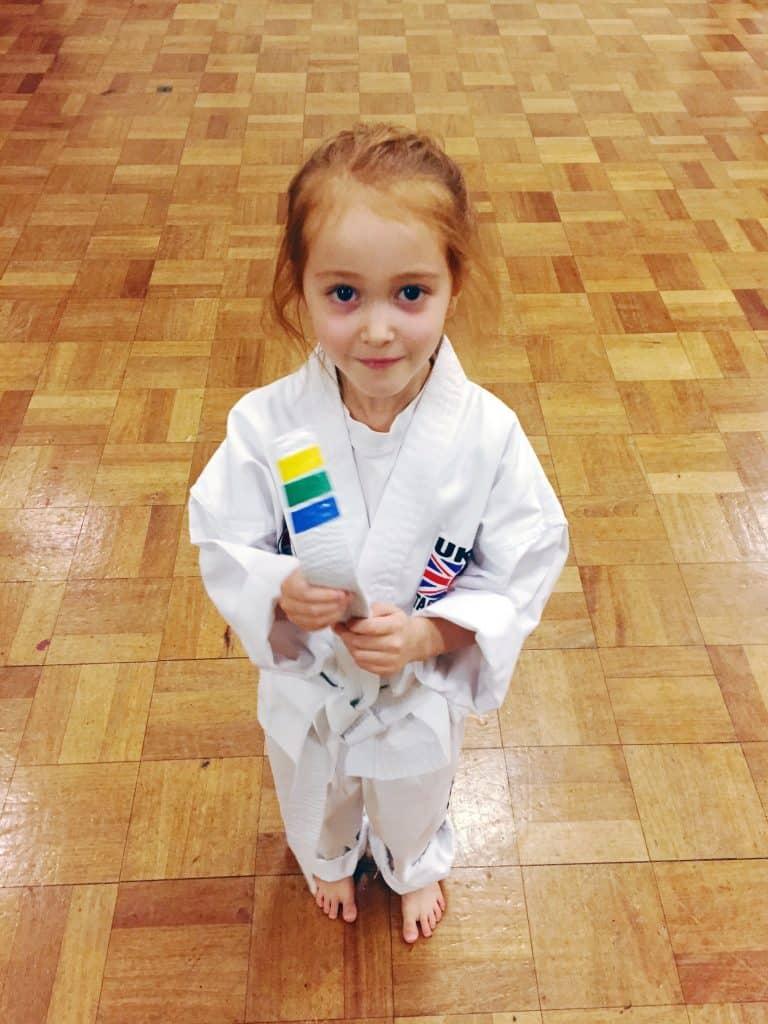 Ava at Taekwondo