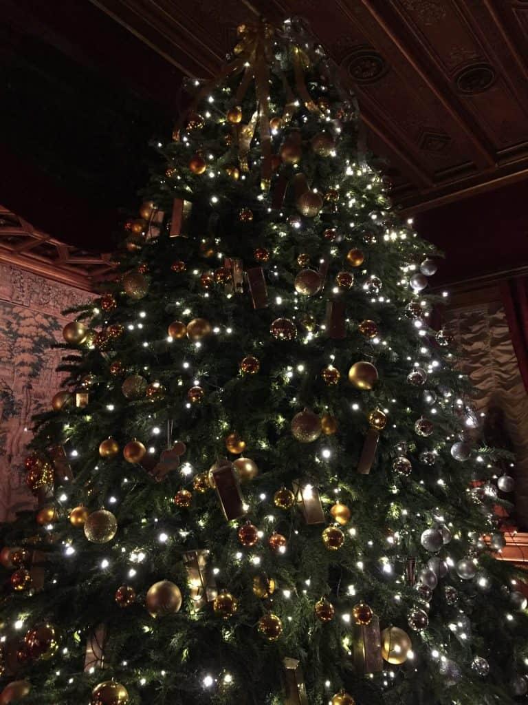 Magnificent Christmas tree at Waddesdon Manor