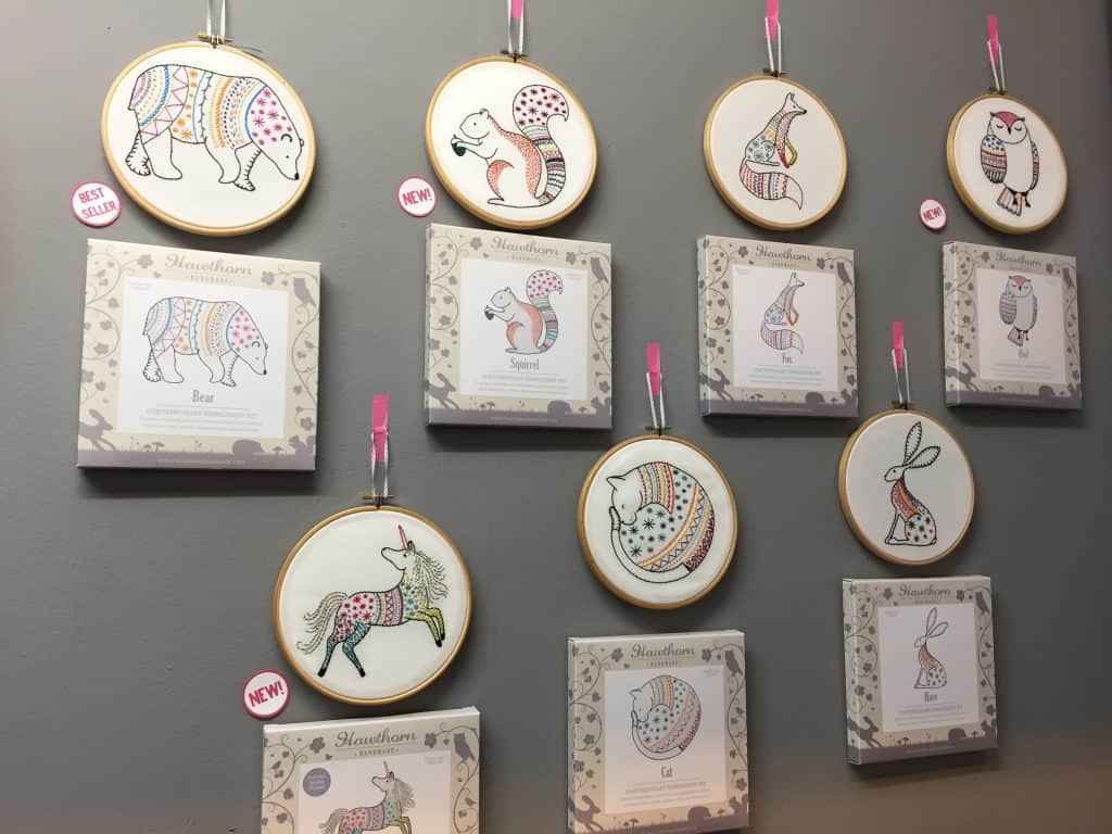 Animal embroideries from Hawthorne Handmade