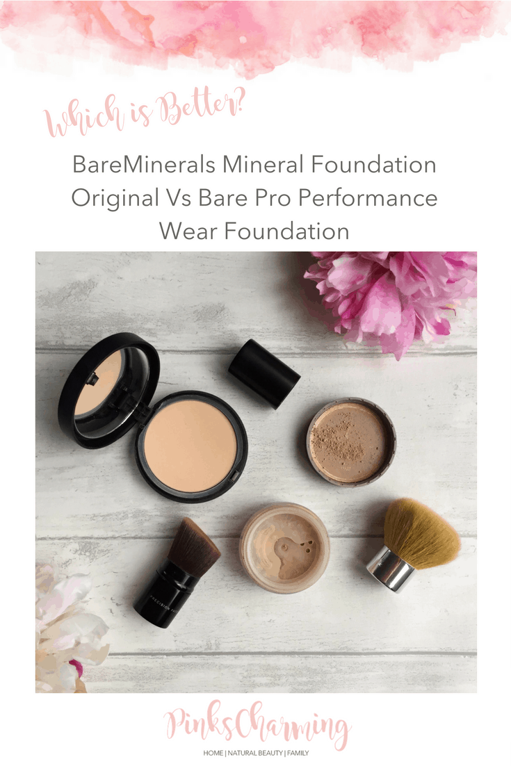 BareMinerals Mineral Foundation Original Vs Bare Pro Performance Wear Foundation - which is better?