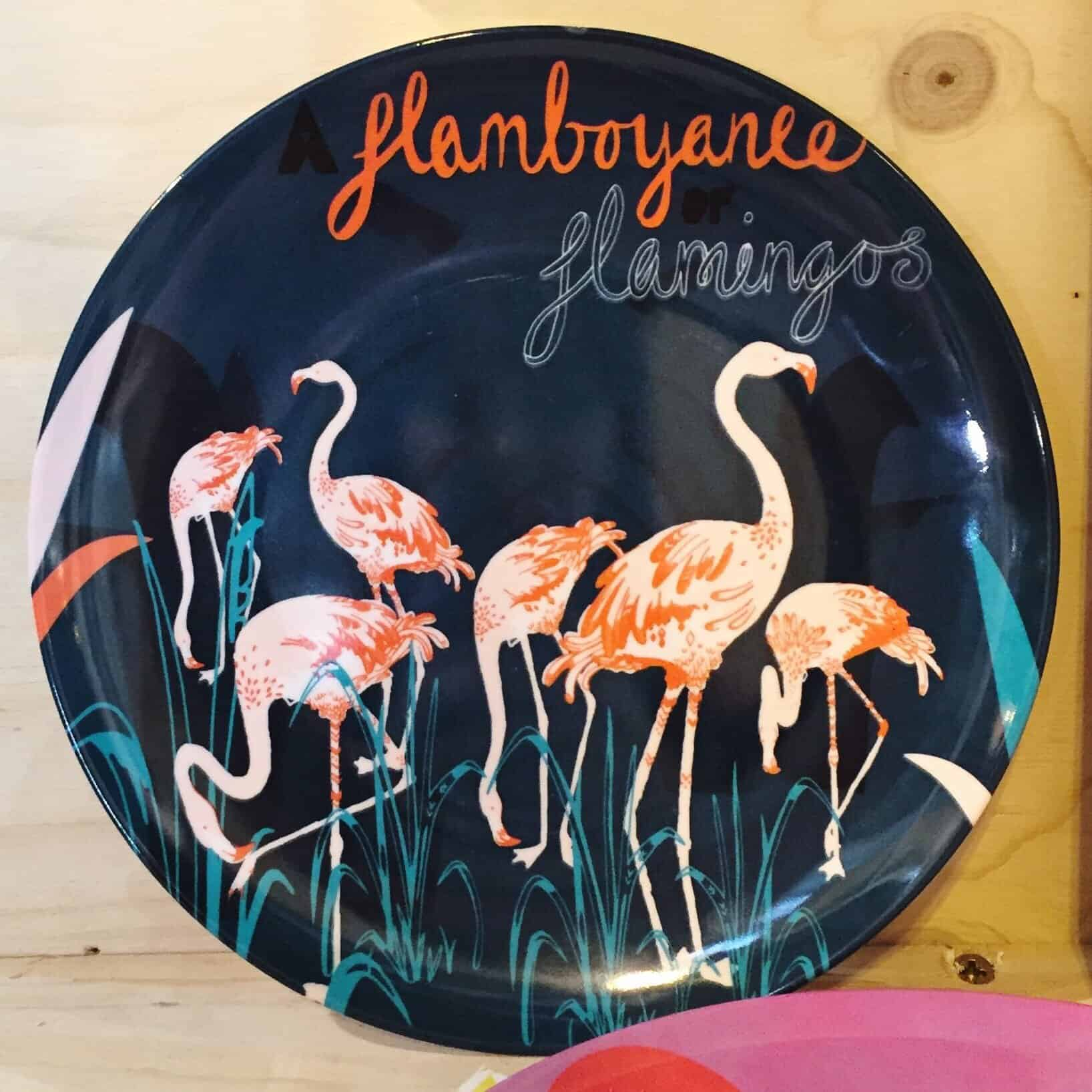 Flamingo plate at the Spring Fair