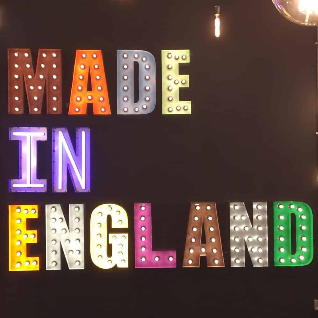 Made in England lights from The Workshop Below at The Spring Fair
