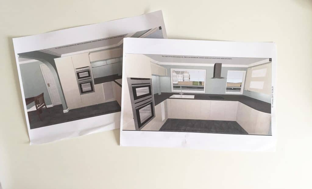 Our new monochrome kitchen plans