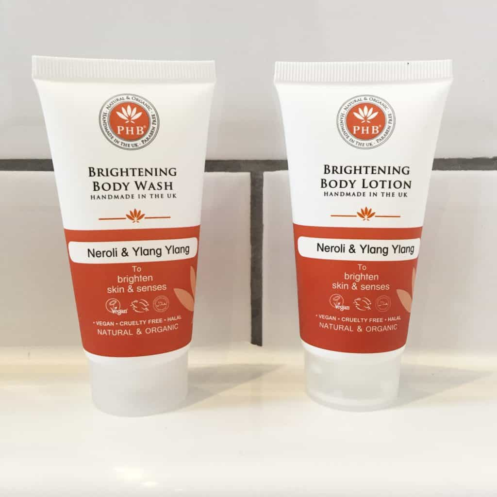 PHB Ethical Beauty Brightening Body Wash and Body Lotion