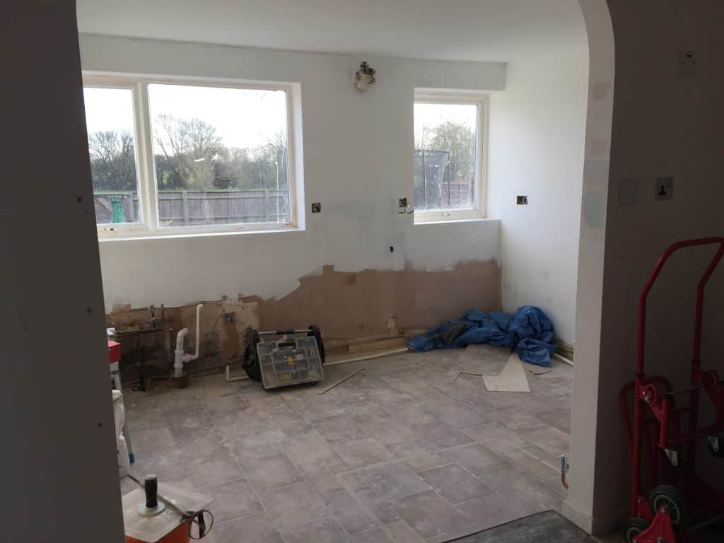 Kitchen renovation with paint