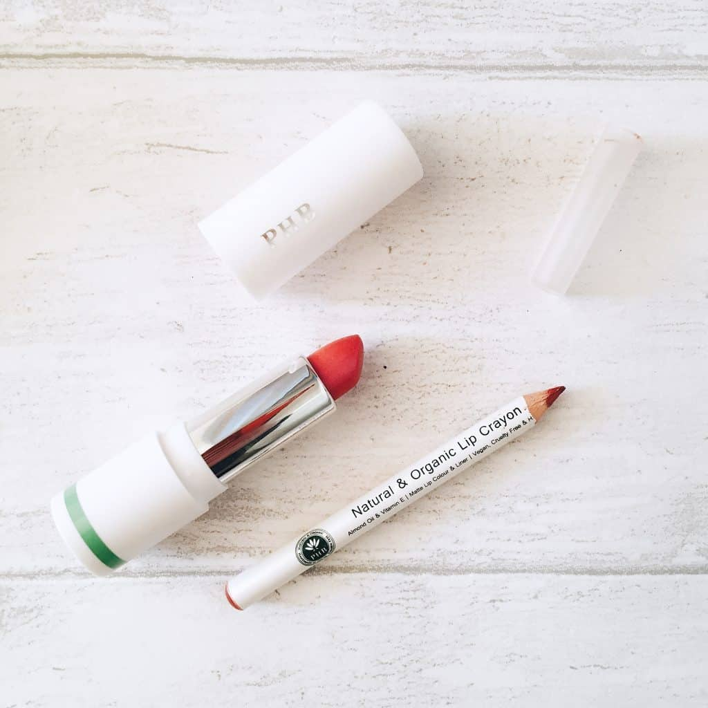 PHB Ethical Beauty 100% Pure Organic Lipstick and Lip Crayon