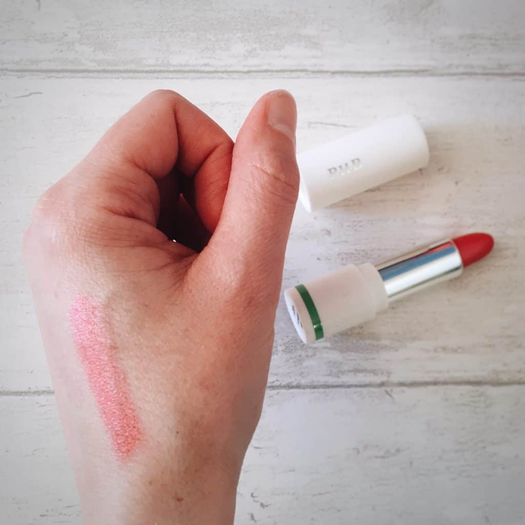 PHB Ethical Beauty 100% Pure Organic Lipstick in Camellia on hand