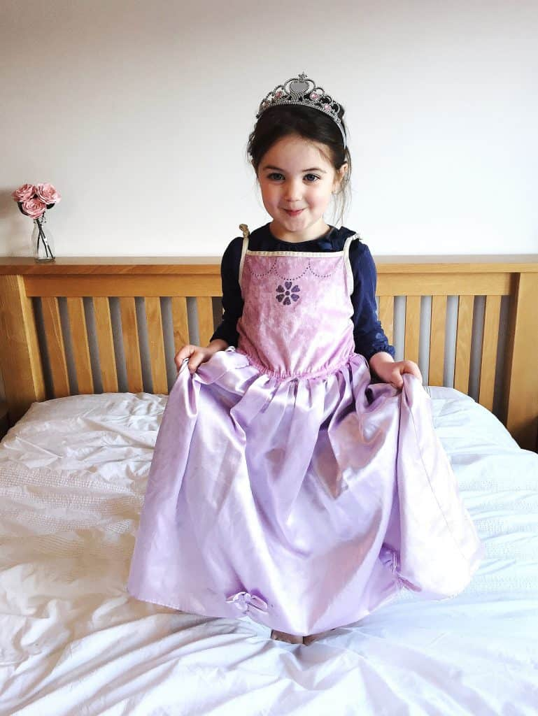 Thea as Cinderella for World Book Day