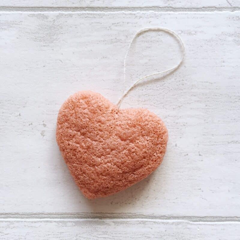 Konjac Sponge Co Pink Heart Facial Sponge
