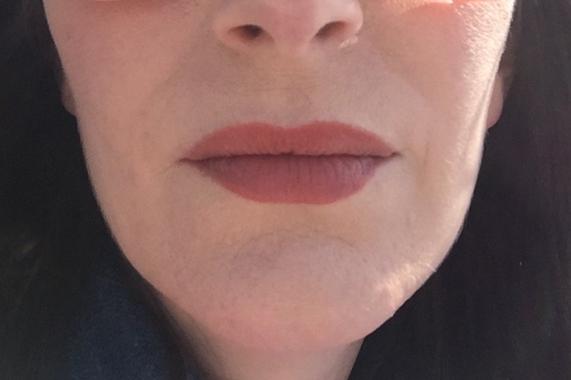NATOrigin Organic Lipstick after three hours and a meal