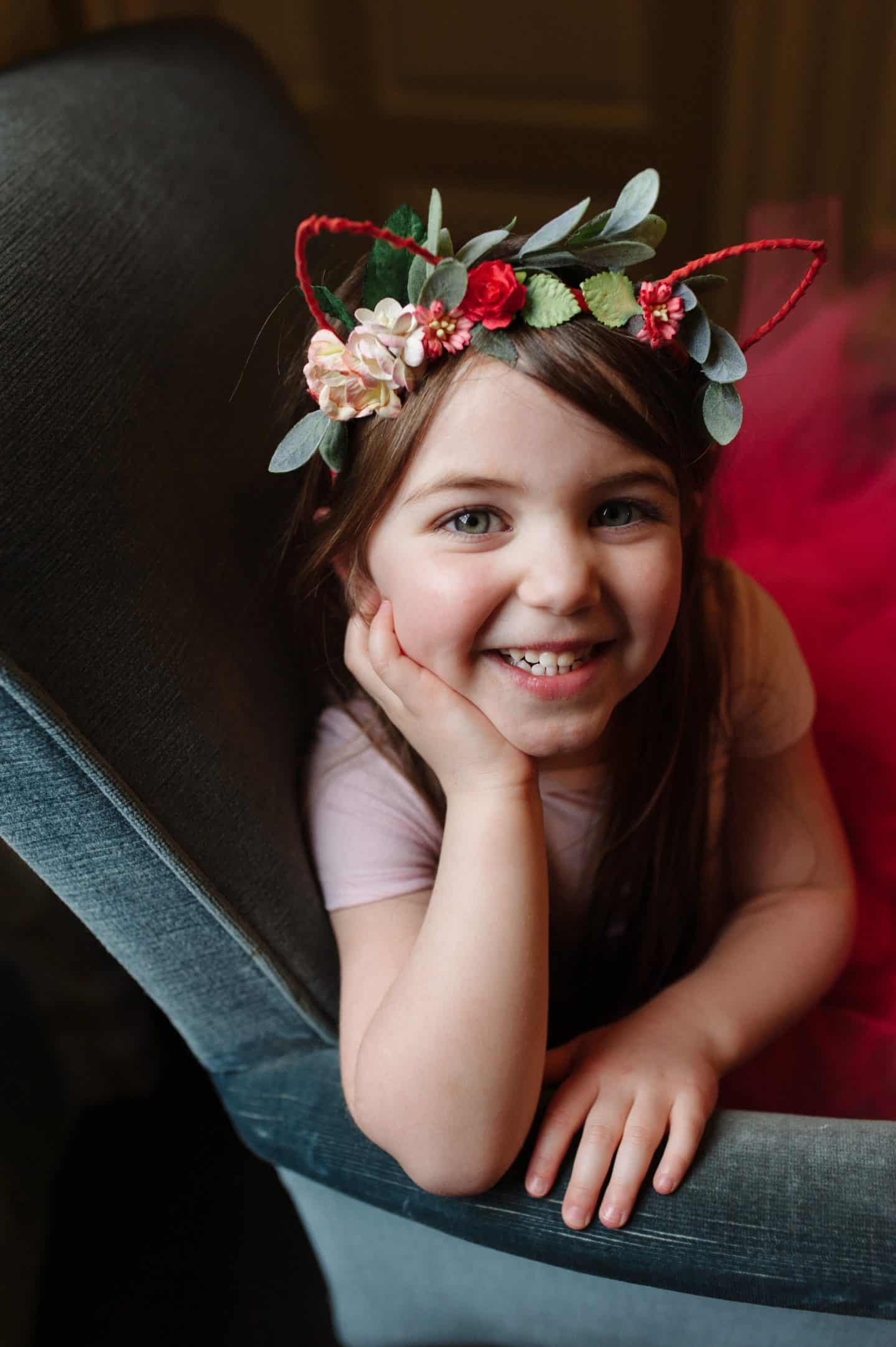 Thea with Mimosa Bridal Bridesmaid headband