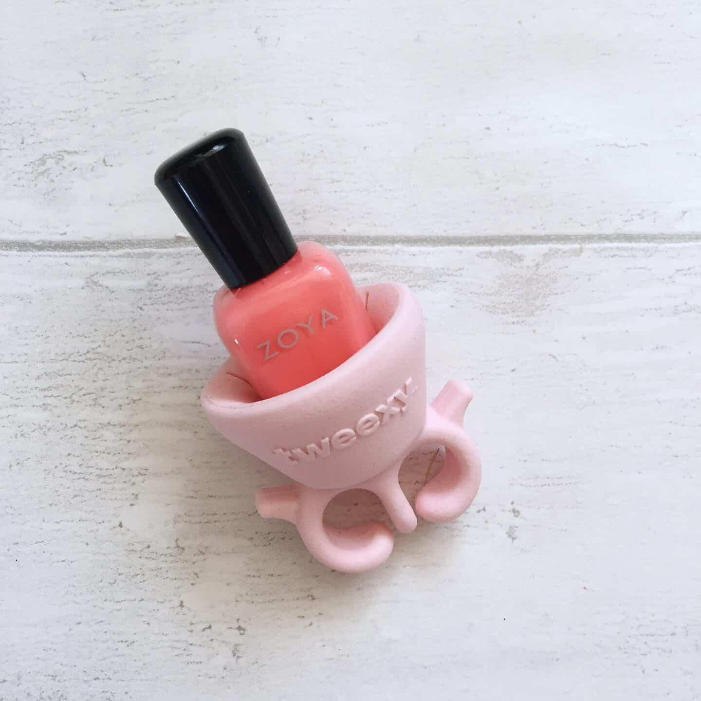Zoya Natural Nail Polish in a pink Tweexy Nail Varnish Holder