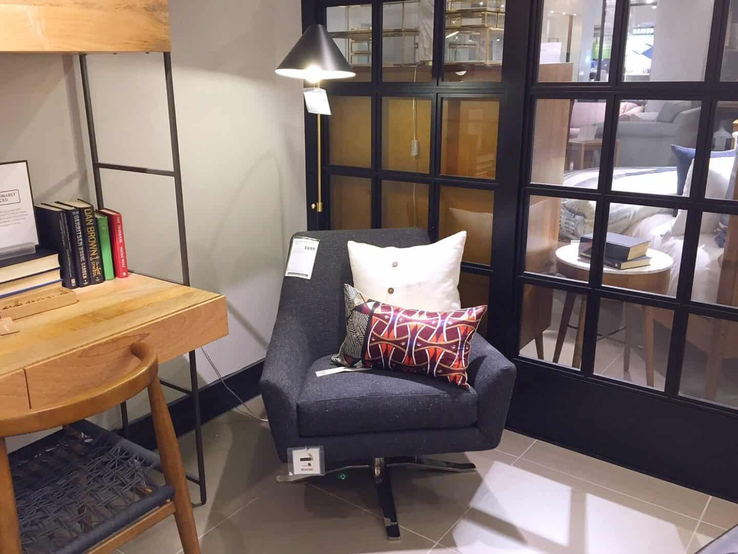 West Elm reading nook