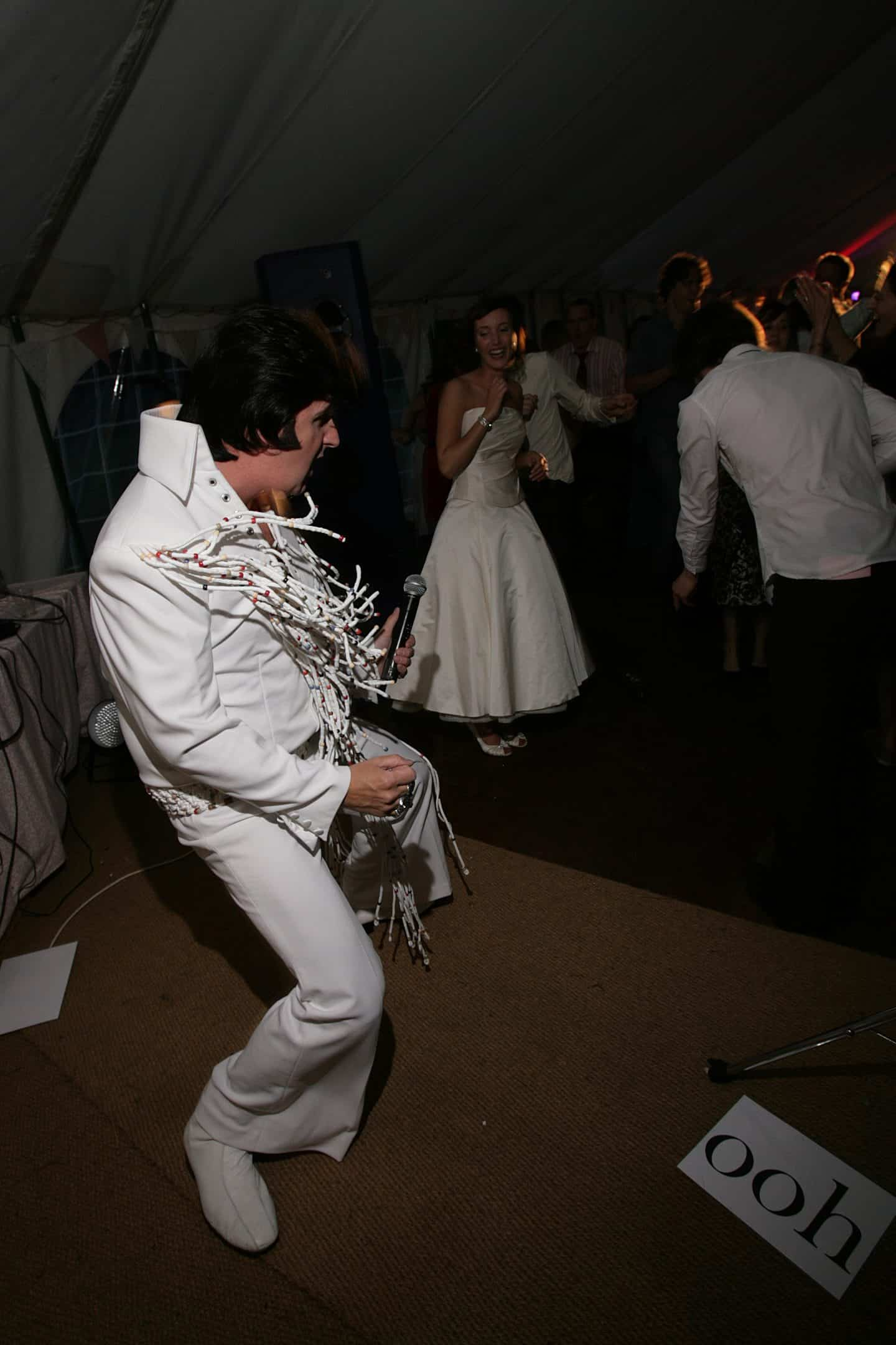 Elvis at our wedding