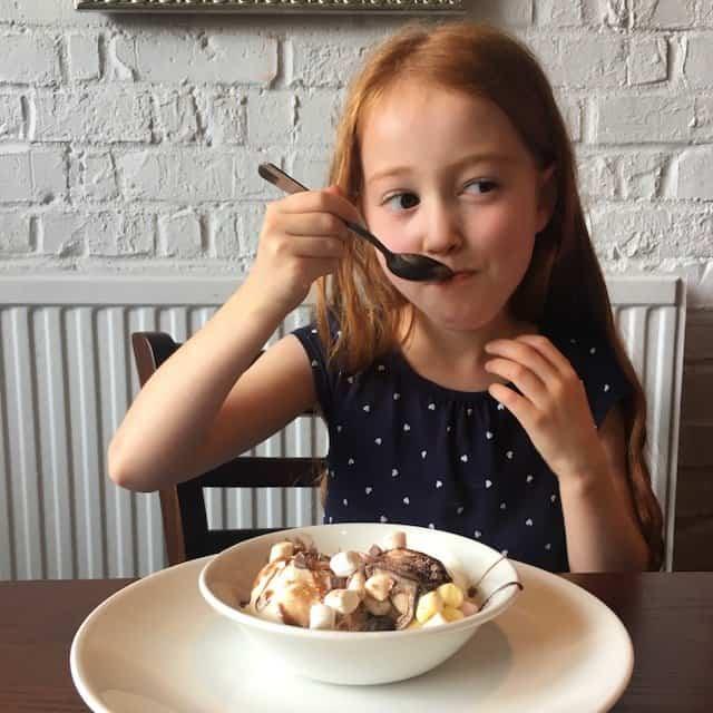 Ava earting dessert