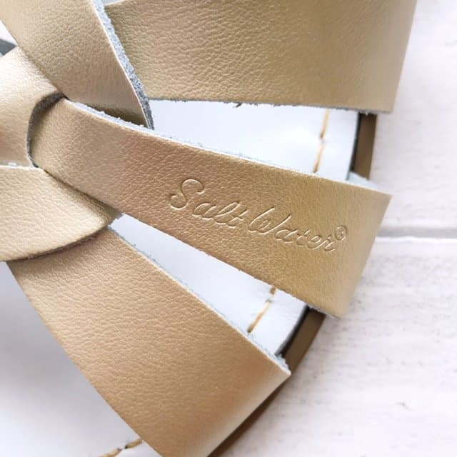 Gold Original Salt-Water Sandals Logo