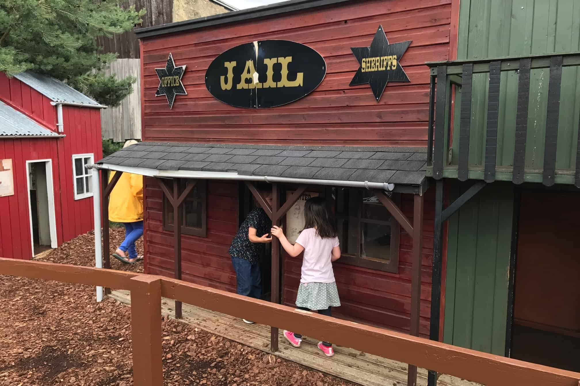 Jail at The Wild West part of Gulliver's Land Theme Park Milton Keynes