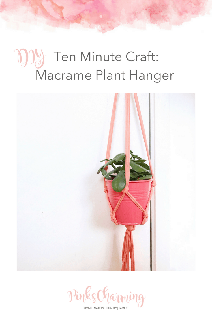 DIY Ten Minute Craft: how to make a macrame plant hanger