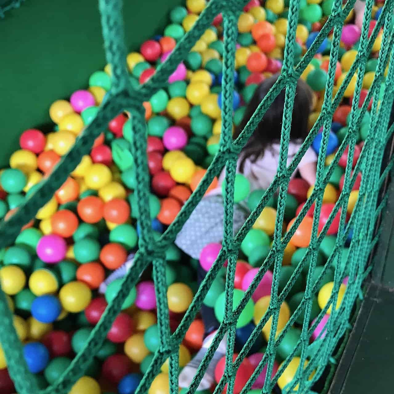The ball pit at Gulliver's Land Theme Park Milton Keynes