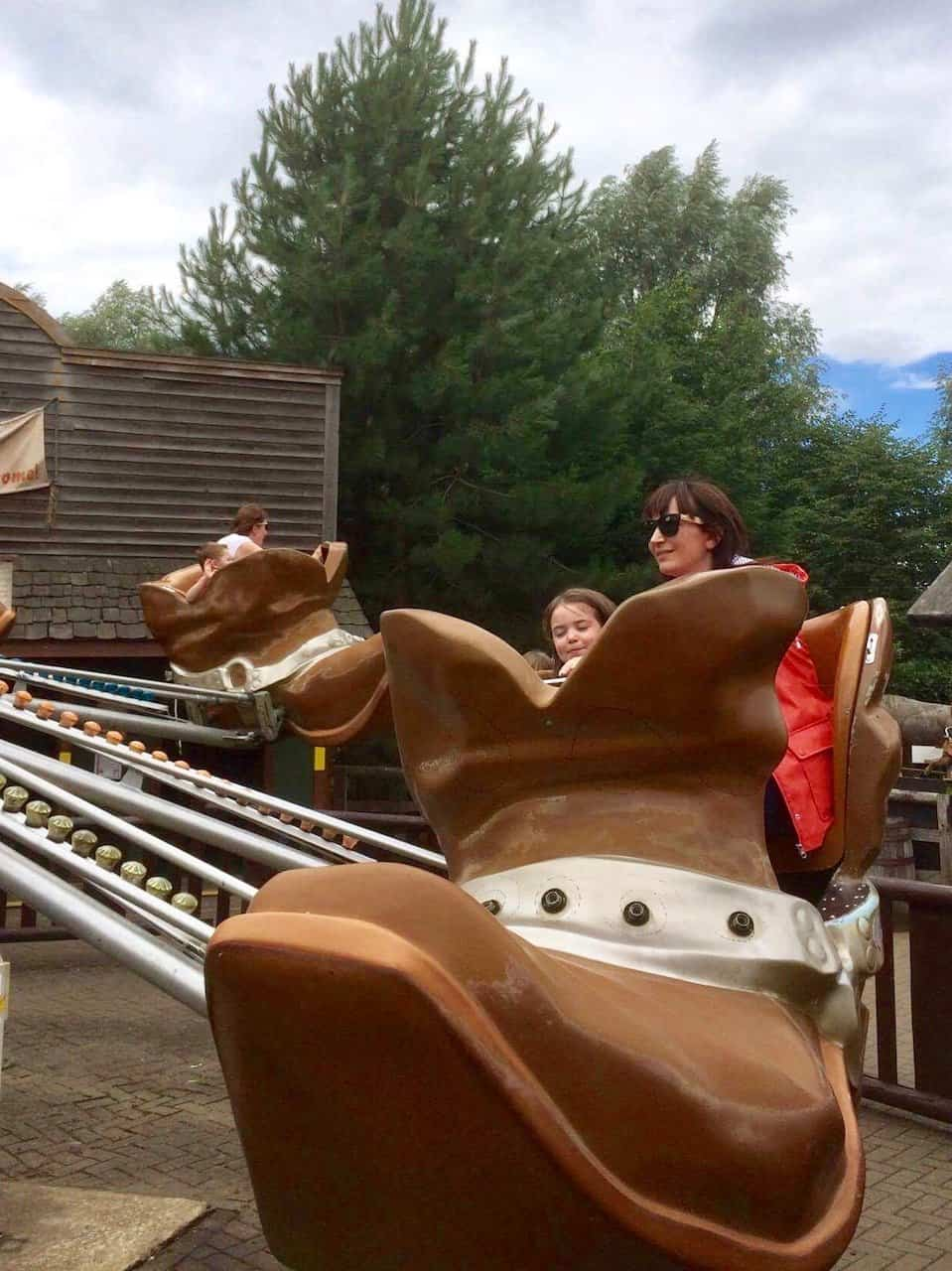 The boot ride at Gulliver's Land Theme Park
