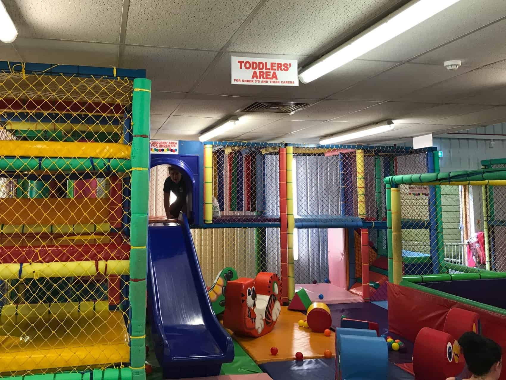 Toddlers' area of the Jungle Barn