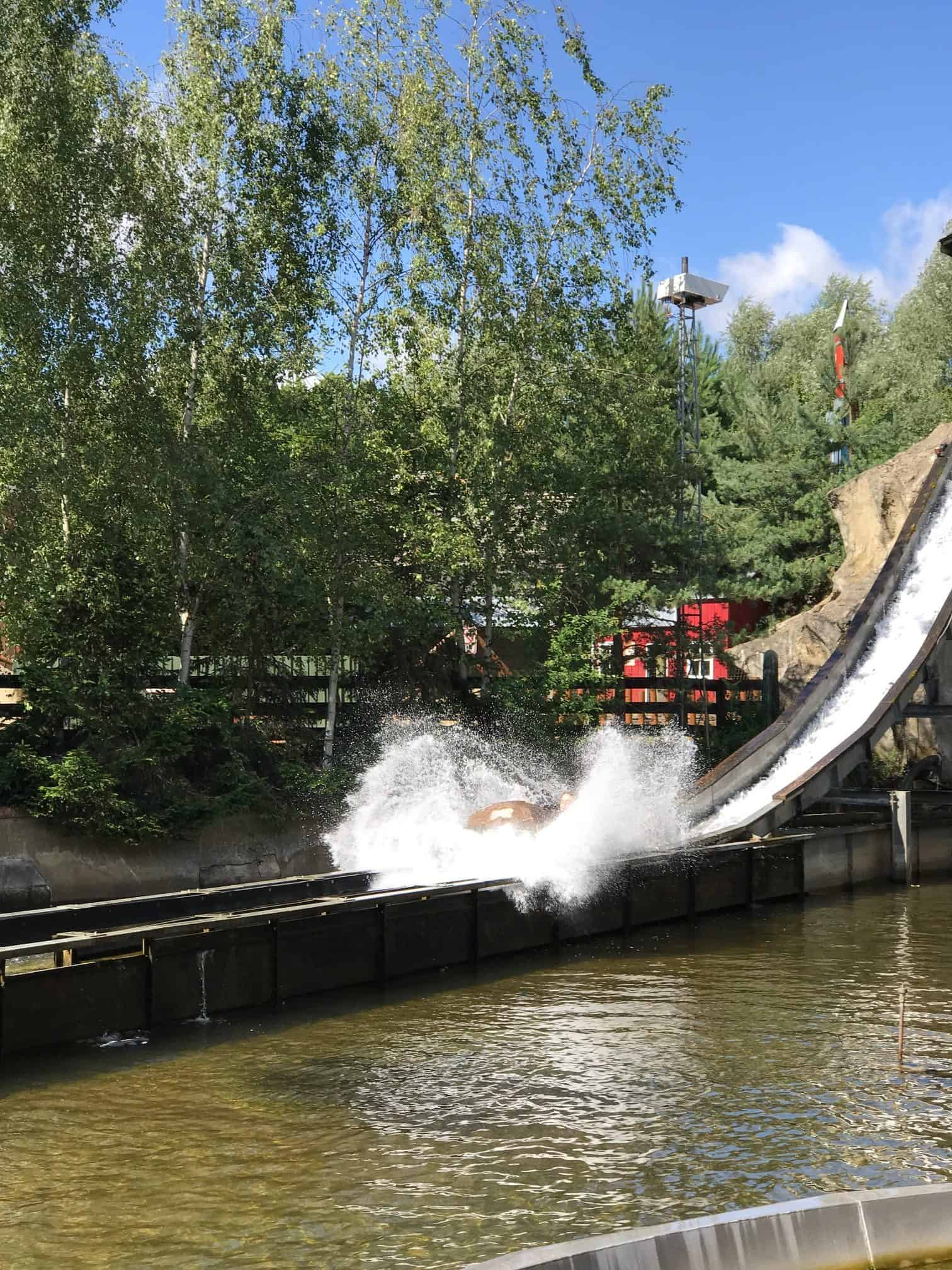 Water flume at Gulliver's Land Theme Park Milton Keynes
