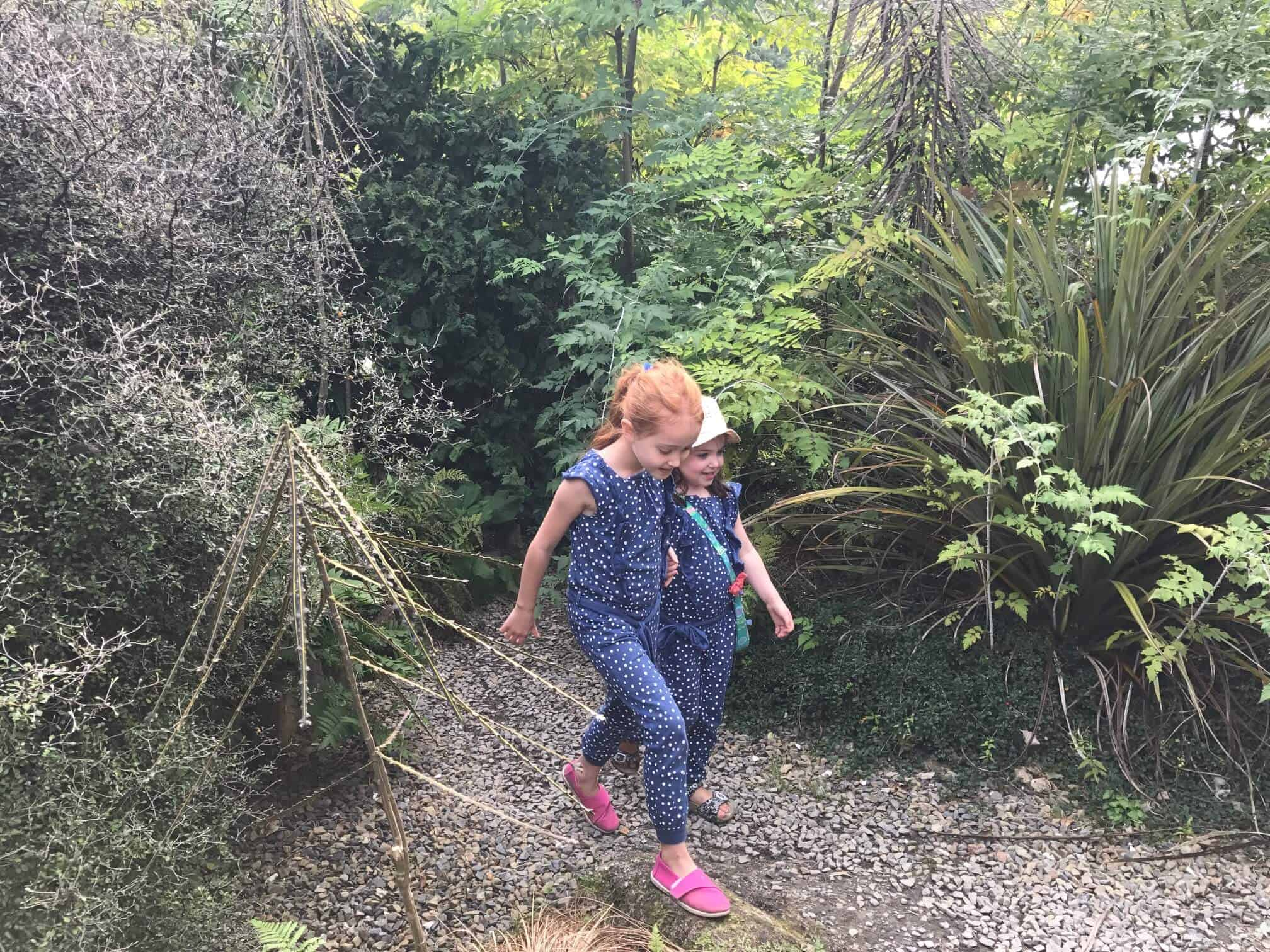 Ava and Thea Exploring the gardens
