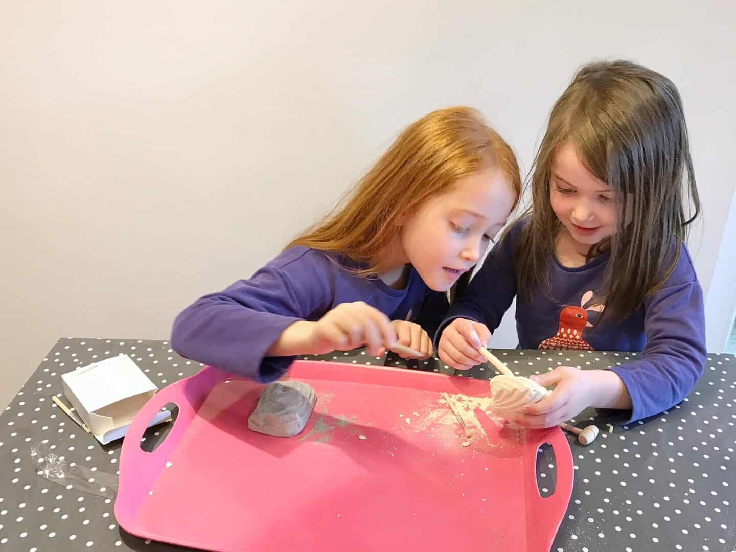 Ava and Thea's September: Starting School, Fossil Hunting and a Bunny Breakfast