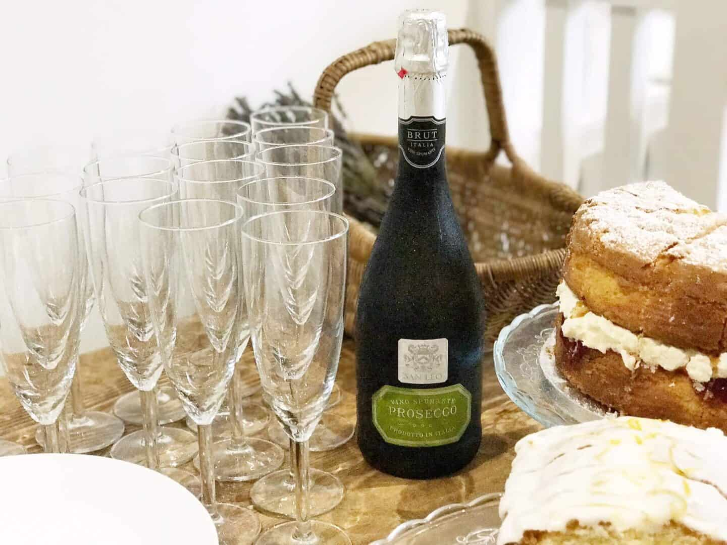 Prosecco and cake at Workshop & Play