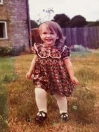 Becky running in the eighties