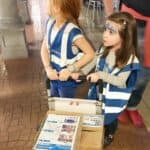 Mini couriers looking for their drop off at Kidzania