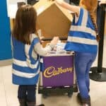 Mini couriers unloading their parcel at Kidzania