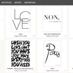 Monochrome Typography Posterlounge pictures