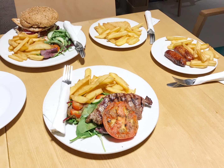 Yummy food at David Lloyd