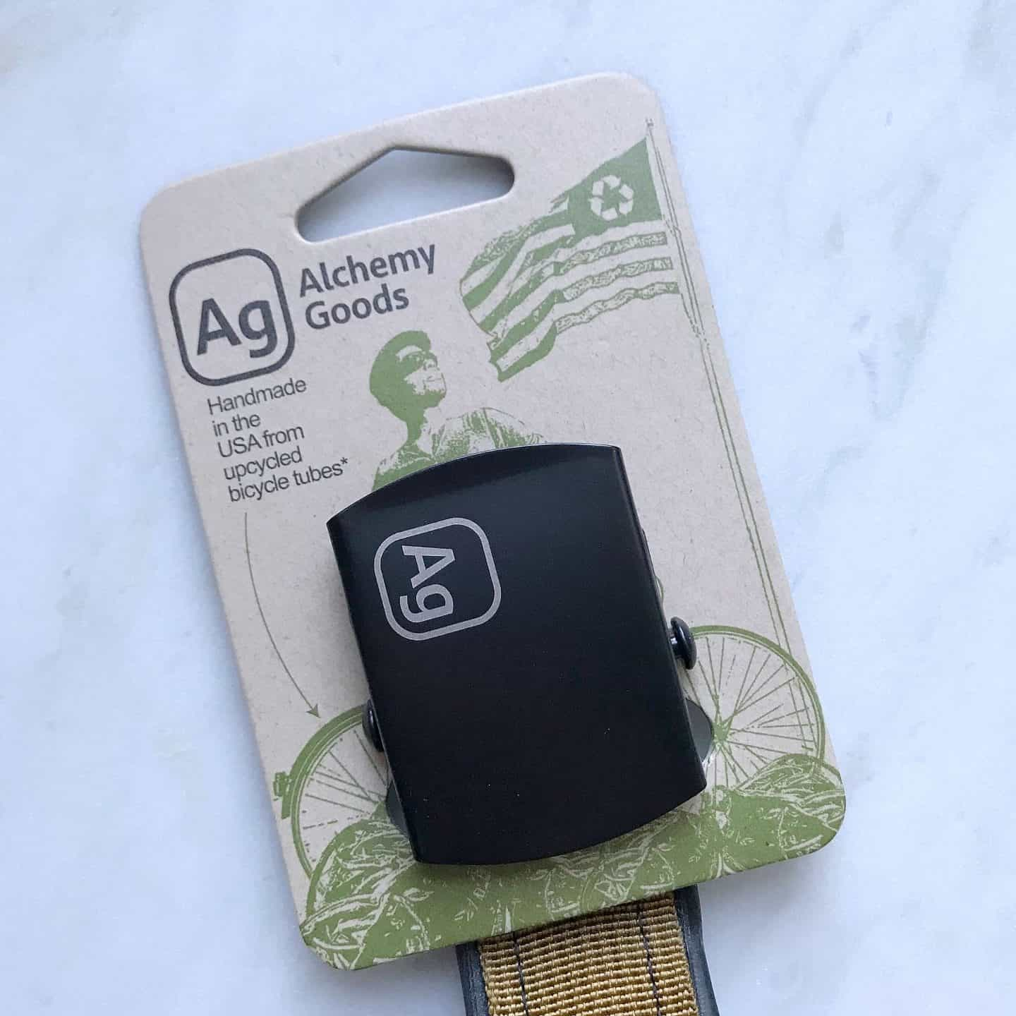 Alchemy Goods recycled belt from Uncommon Goods