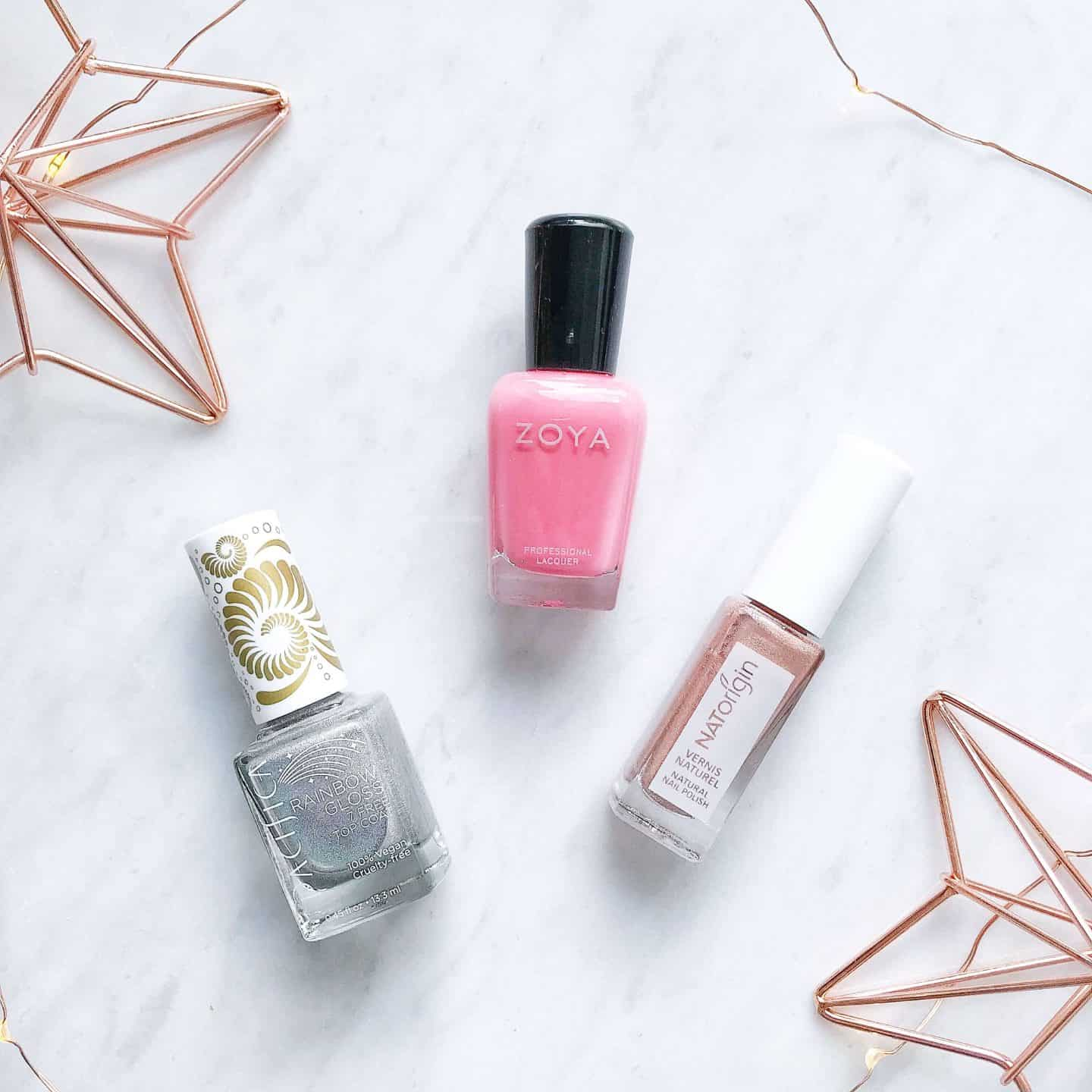 Three low chemical nail polishes