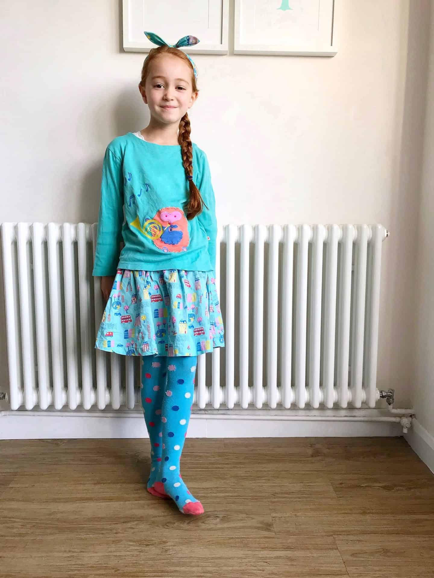 Turquoise Piccalilly organic ethical kids clothes
