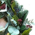 Contemporary Christmas Wreath detail